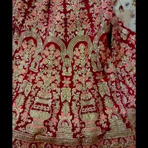Beautiful magenta pink wedding lhnga